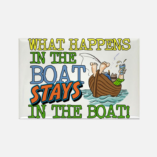 STAYS IN THE BOAT Rectangle Magnet