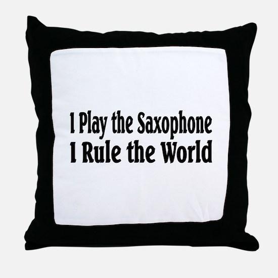 Saxophone Throw Pillow