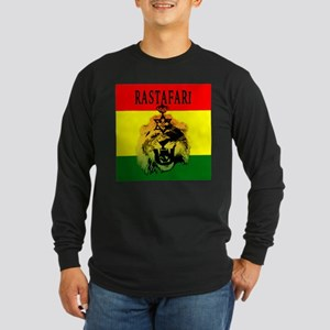 Rasta Roaring Lion Of Judah Long Sleeve T-Shirt