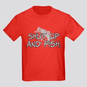 Shut up and fish. Kids Dark T-Shirt