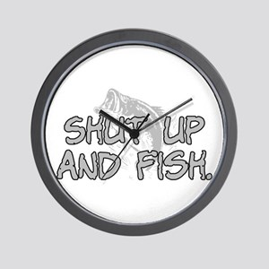 Shut up and fish. Wall Clock