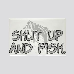 Shut up and fish. Rectangle Magnet