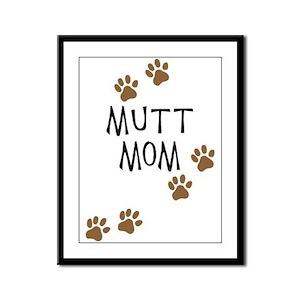 Mutt Mom Framed Panel Print