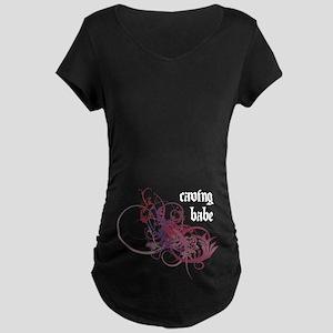 Caving Babe Maternity Dark T-Shirt