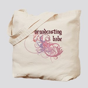 Broadcasting Babe Tote Bag
