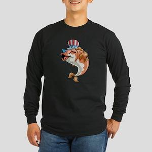 4th Of July Fish Long Sleeve T-Shirt