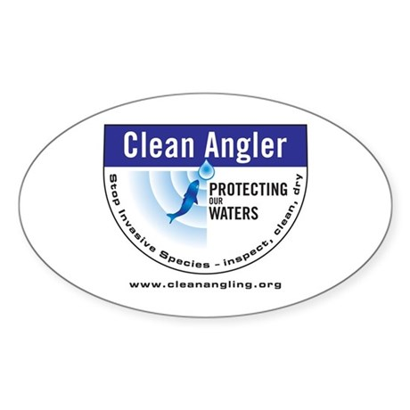 Clean Angling Pledge Sticker (Oval)