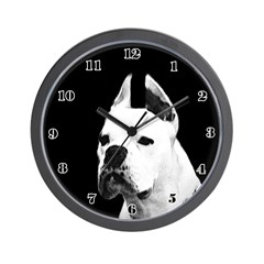 White Boxer Wall Clock
