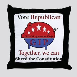 Shredder Pig Throw Pillow