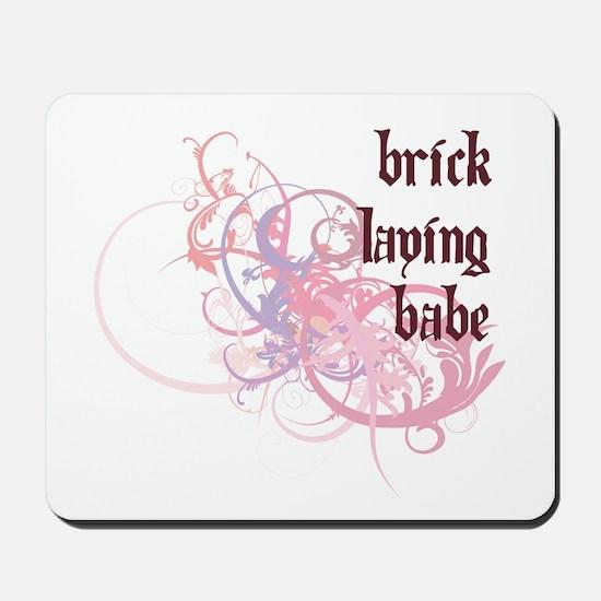 Brick Laying Babe Mousepad