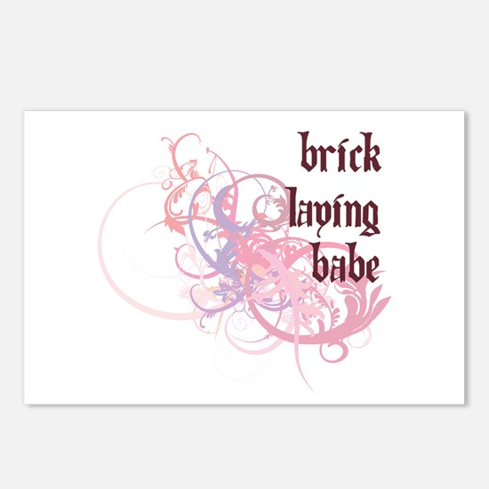 Brick Laying Babe Postcards (Package of 8)