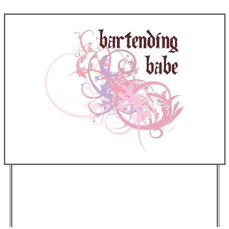 Bartending Babe Yard Sign