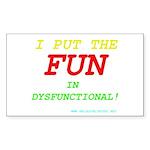 I'm FUN! Rectangle Sticker 10 pk)