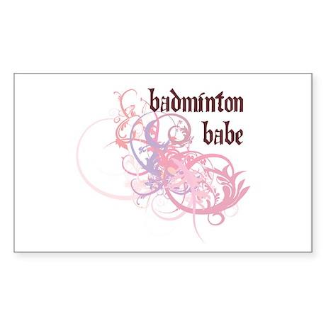 Badminton Babe Rectangle Sticker