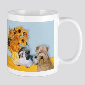 Sunflowers/PBGV8+Wheaten8 Mug