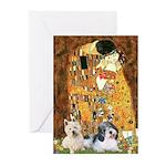 KISS/PBGV8+Westie1 Greeting Cards (Pk of 20)