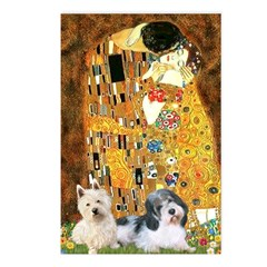 KISS/PBGV8+Westie1 Postcards (Package of 8)