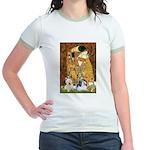 KISS/PBGV8+Westie1 Jr. Ringer T-Shirt