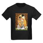KISS/PBGV8+Westie1 Kids Dark T-Shirt