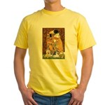 KISS/PBGV8+Westie1 Yellow T-Shirt