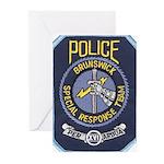 Brunswick Police SWAT Greeting Cards (Pk of 20)