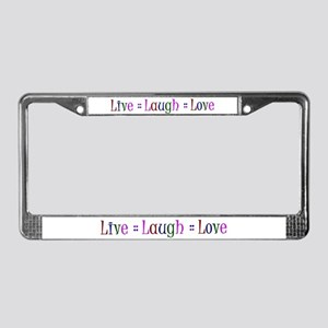 Live Laugh Love License Plate Frame