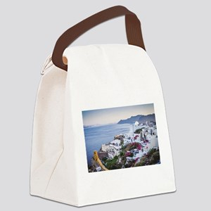 Santorini Greece Canvas Lunch Bag