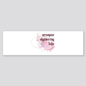 Aerospace Engineering Babe Bumper Sticker