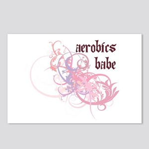 Aerobics Babe Postcards (Package of 8)