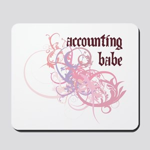 Accounting Babe Mousepad