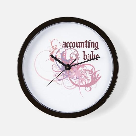 Accounting Babe Wall Clock