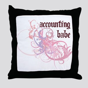 Accounting Babe Throw Pillow