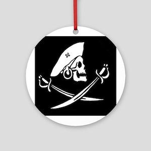 Keepsake Pirate Flag Ornament (Round)