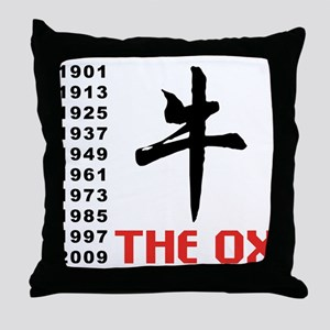 The Ox Throw Pillow