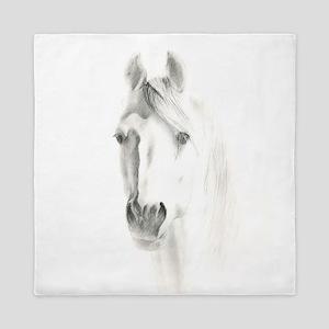 Horse Portrait Queen Duvet