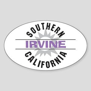 Irvine Caliornia Oval Sticker