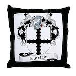 Sinclair Family Crest Throw Pillow