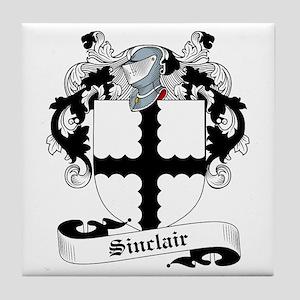 Sinclair Family Crest Tile Coaster