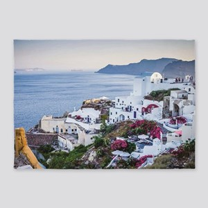 Santorini Greece 5'x7'Area Rug