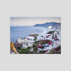 Santorini Greece 5'x7'Area Rug