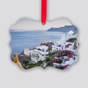 Santorini Greece Picture Ornament