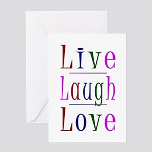 Live Laugh Love Greeting Cards