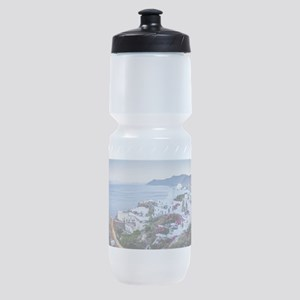 Santorini Greece Sports Bottle