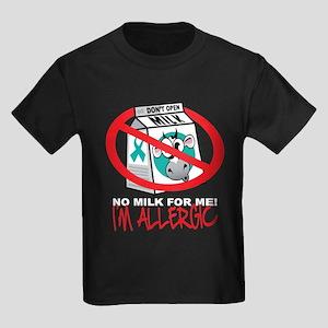 Milk Allergy 2 Kids Dark T-Shirt