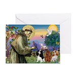 St Francis/Cavalier Trio Greeting Card