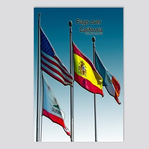 Flags over California Postcards (Package of 8)