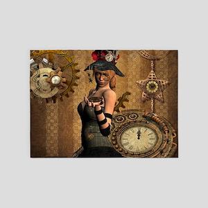 steampunk, wonderful steampunk lady with clocks an