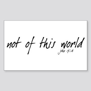 not of this world - Rectangle Sticker