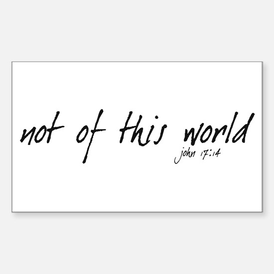 not of this world - Rectangle Decal