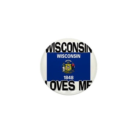 Wisconsin Loves Me Mini Button (10 pack)